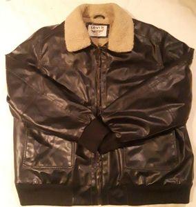 Levis Faux Leather Bomber Moto 2XL Jacket